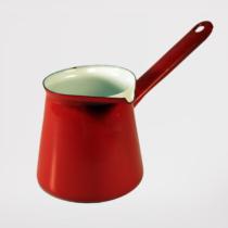 Piros zománcozott kávékiöntő 0,25 liter