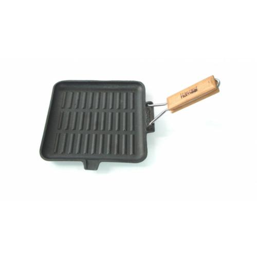 Öntöttvas grill serpenyő 24cm szögletes